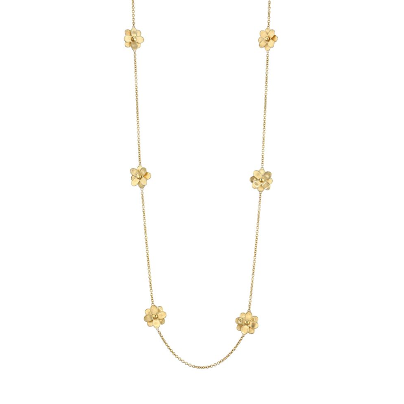 Marco Bicego Flower Station Long Necklace