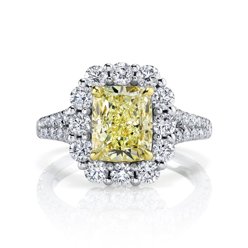 Crafted for Henry C. Reid Cushion Cut Engagement Ring