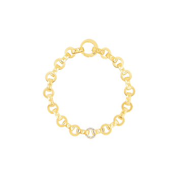 Petite Obelisco Single Diamond Station Bracelet