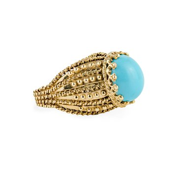 Turquoise Ornate Ring