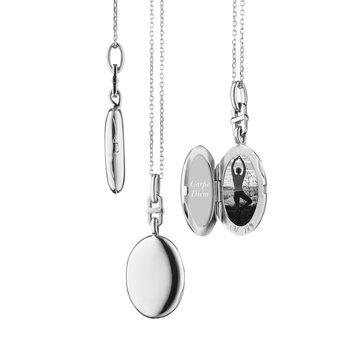 Silver Slim Oval Locket