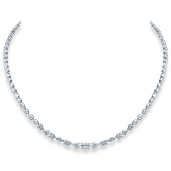 Mixed Shape Diamond Necklace