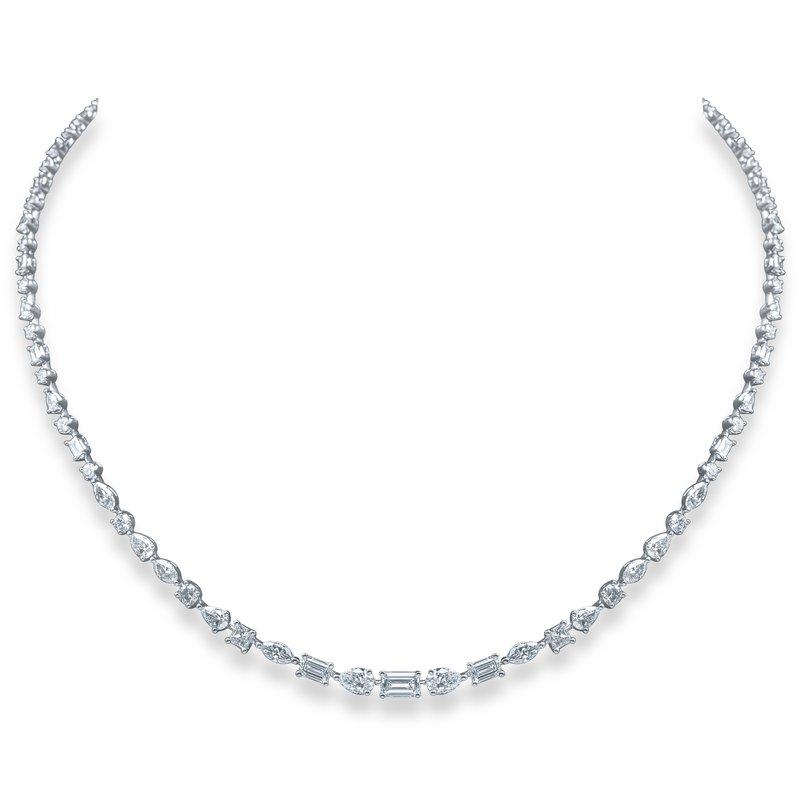 Arzano Mixed Shape Diamond Necklace