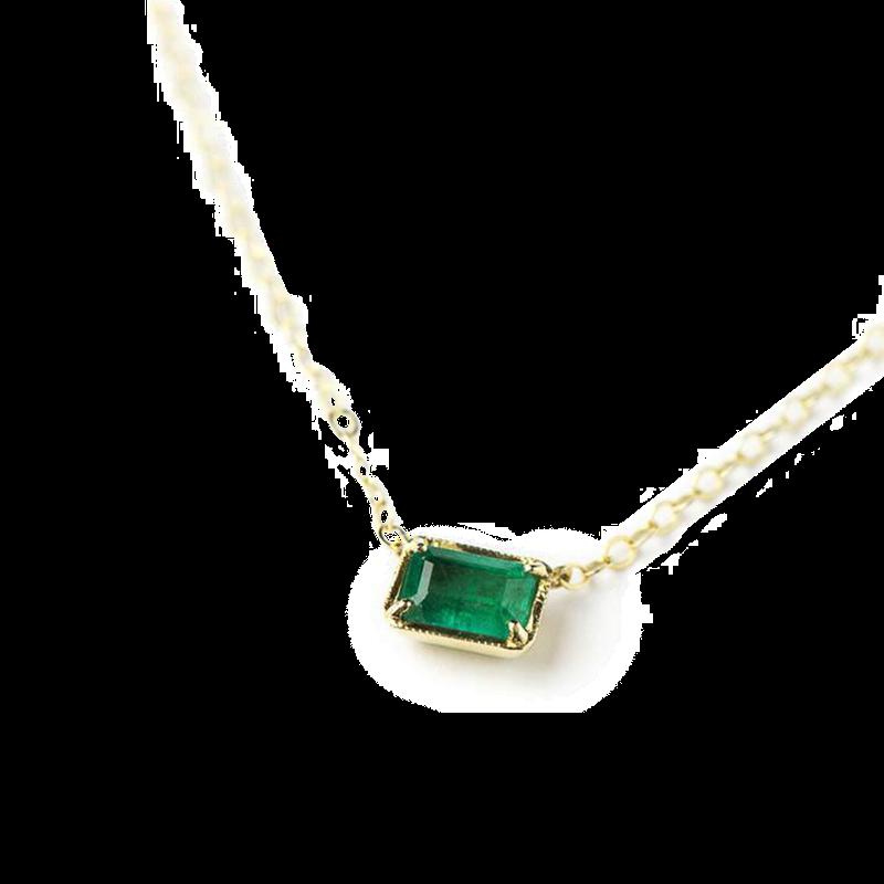 ILA Leone Emerald Necklace