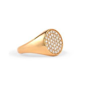 Diamond Pave Signet Ring