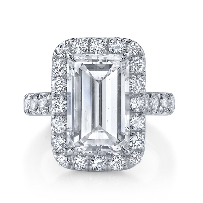 Crafted for Henry C. Reid Emerald Cut Engagement Ring