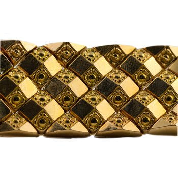 Gold Thick Block Bracelet
