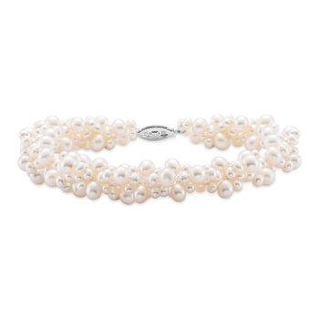 Cluster Pearl Bracelet
