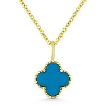 Turquoise Clover Pendant