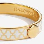 Halcyon Days Agama Cream & Gold Bangle