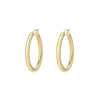 Large Think Gold Hoops
