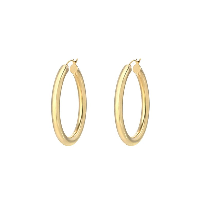 Zoe Lev Large Think Gold Hoops