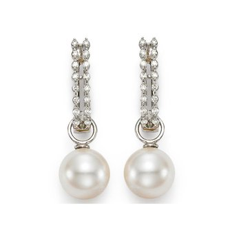 Huggie Pearl Earrings
