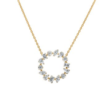 Medium Diamond Circle Necklace
