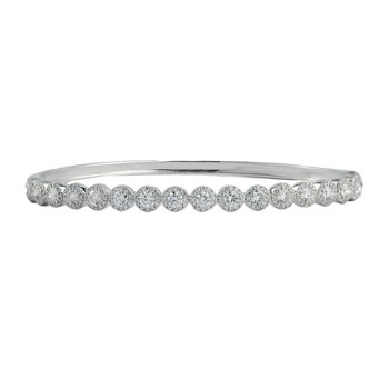 Diamond Cluster Bangle