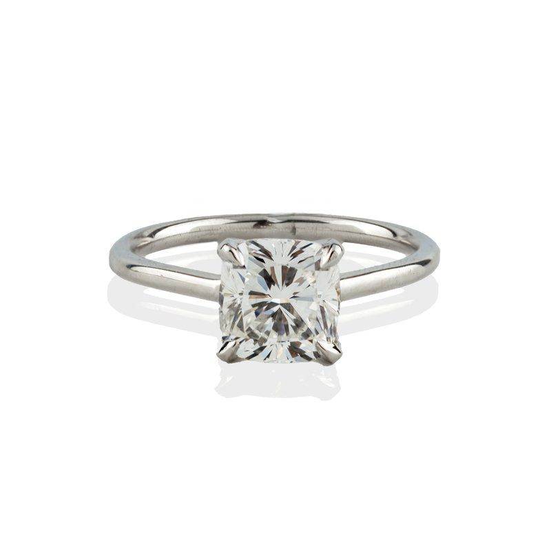 Hand-Forged by Henry C. Reid Cushion Cut Engagement Ring