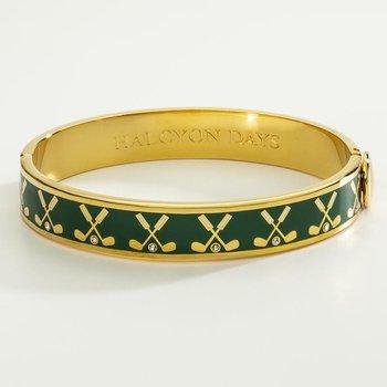 Gold Club Emerald Bangle
