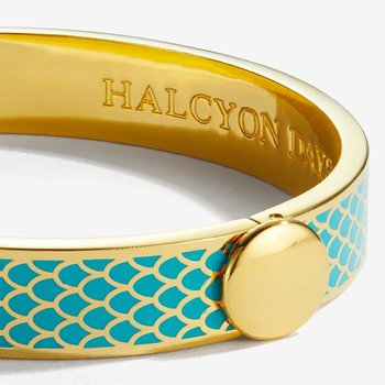 Salamander Turquoise & Gold Bangle