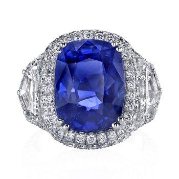 Cushion Sapphire Cocktail Ring