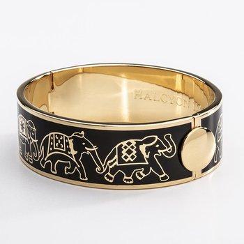 Elephant Parade Black & Gold Bangle