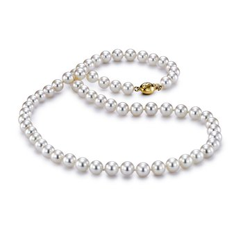 "6-6.5MM 18"" Akoya Cultured Pearl Strand Necklace"