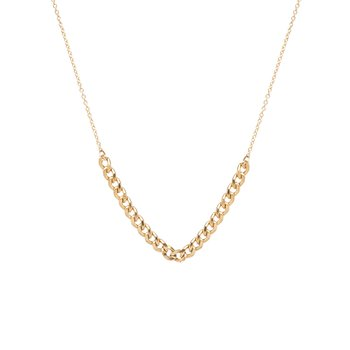 Curb Chain Station Necklace