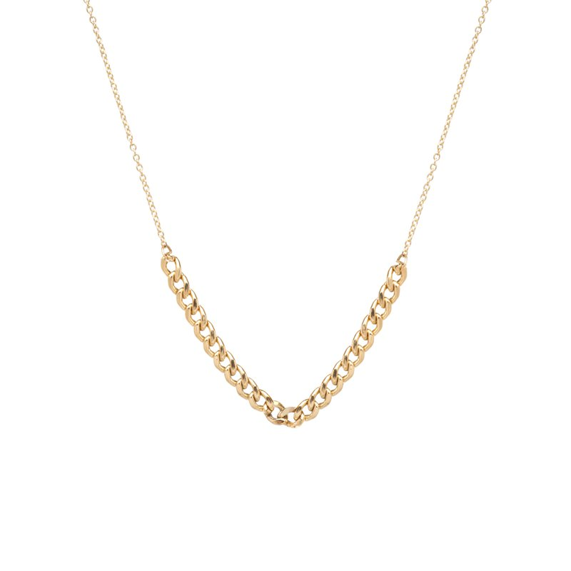 Zoë Chicco Curb Chain Station Necklace