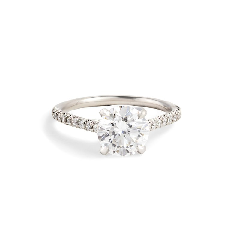 Hand-Forged by Henry C. Reid Round Brilliant Diamond Engagement Ring