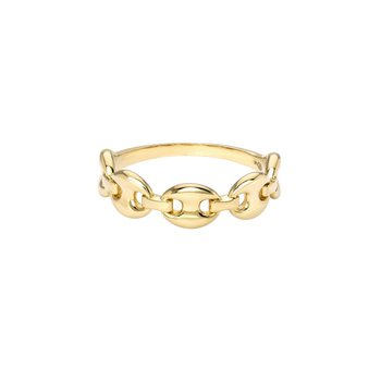 Gold Oval Link Chain Ring
