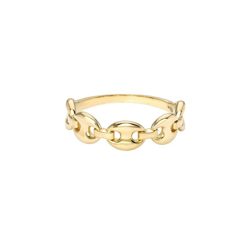 Zoe Lev Gold Oval Link Chain Ring