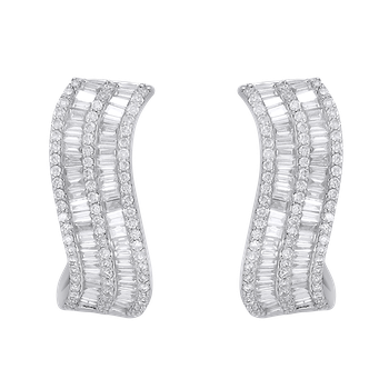 Curved Diamond Hoops