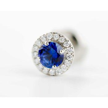 Tiffany Sapphire & Diamond Earrings