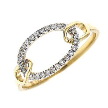 Diamond Oval Interlocking Ring