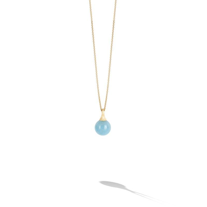 Marco Bicego Gold and Aquamarine Pendant