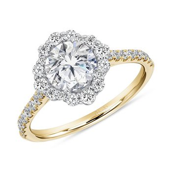 Round Diamond Engagement Ring with Halo