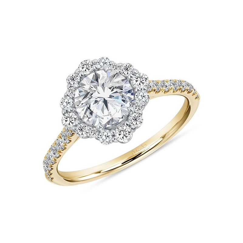 Crafted for Henry C. Reid Round Diamond Engagement Ring with Halo