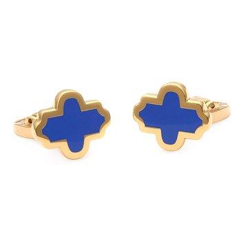 Agama Navy & Gold Cufflinks