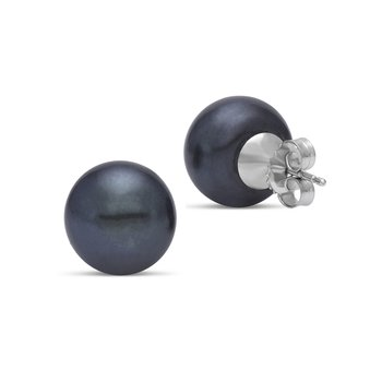 Freshwater Cultured Pearl Button Stud Earrings