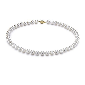 "7-7.5MM 18"" Akoya Cultured Pearl Strand Necklace"