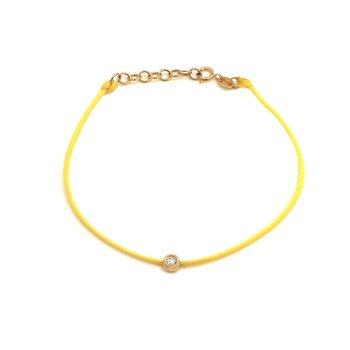 Yellow Cord Single Diamond Bracelet
