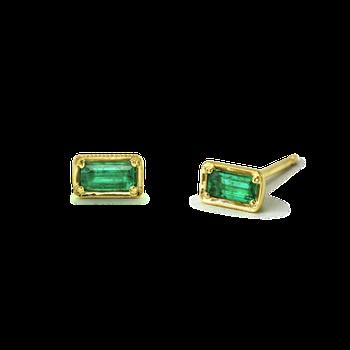 Leone Emerald Studs