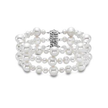 Three Row Popcorn Pearl Bracelet