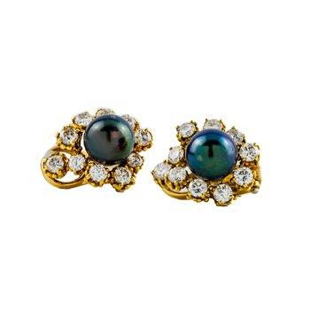 Tahitian Pearls Clip-on Earrings