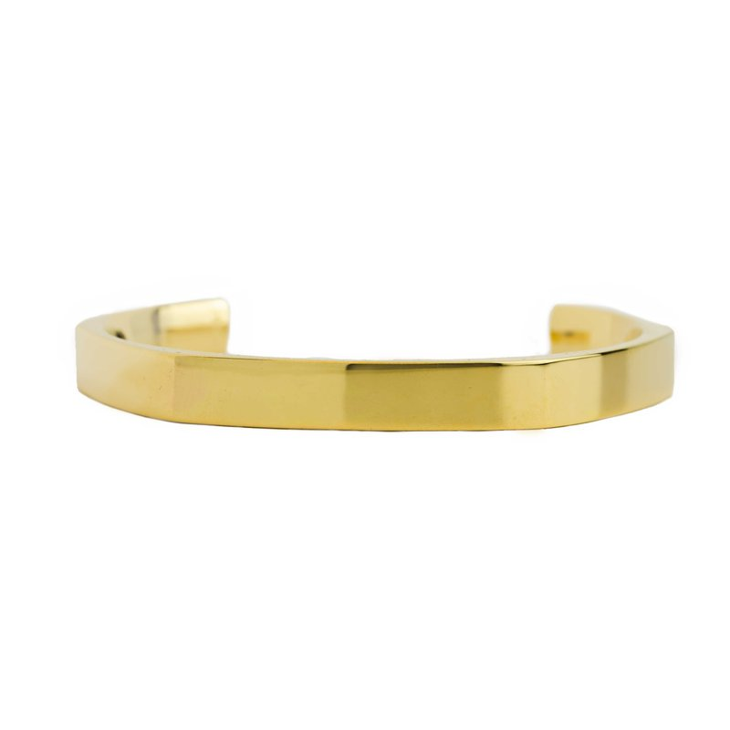 Hand-Forged by Henry C. Reid Geometric Gold Cuff
