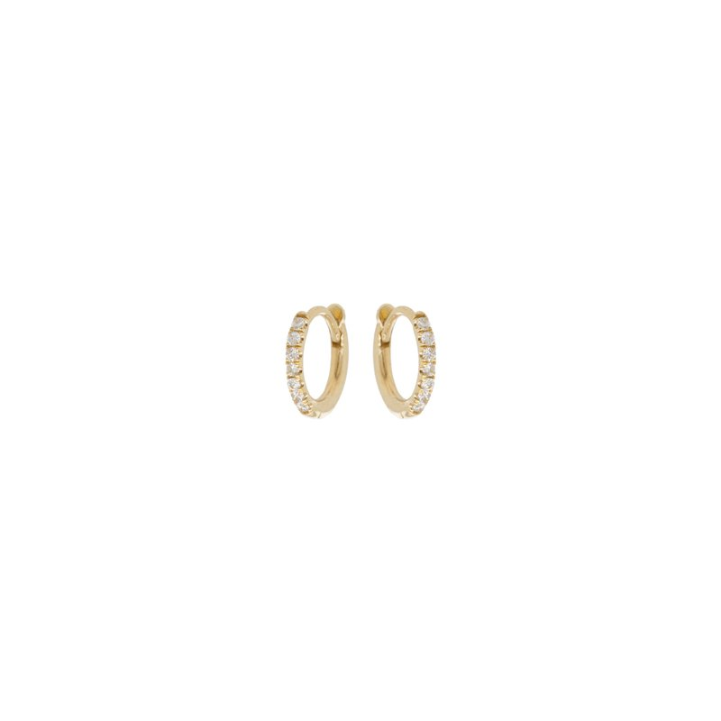 Zoë Chicco Extra Small Pave Diamond Huggie Hoops