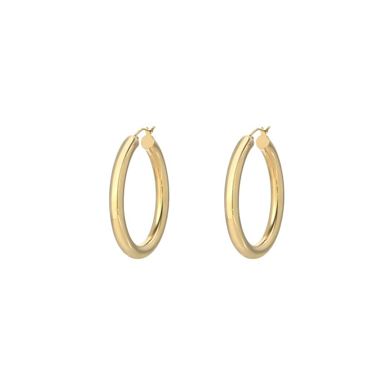 Medium Think Gold Hoops