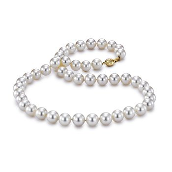 "7.5-8MM 18"" Akoya Cultured Pearl Strand Necklace"