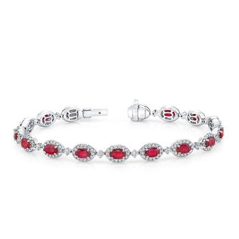 Ruby Tennis Bracelet