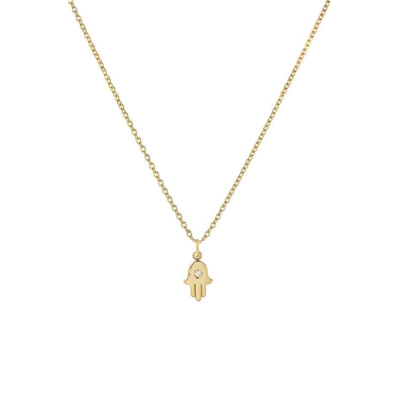 Zoe Lev Diamond Hamsa Necklace