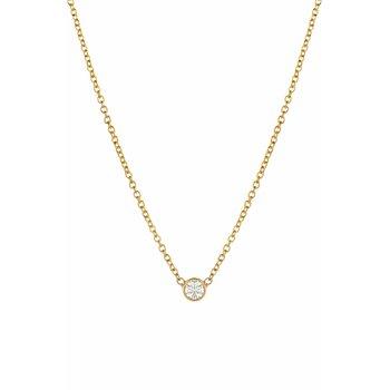 Small Bezel Diamond Necklace